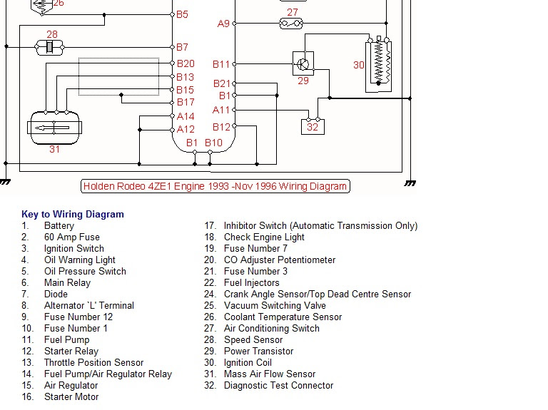 holden rodeo wiring diagram image 4
