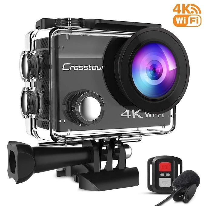 Crosstour 4K - Camera con Microfono Esterno Subacquea e 20 Kit di Accessori- Lineas-Webdesign