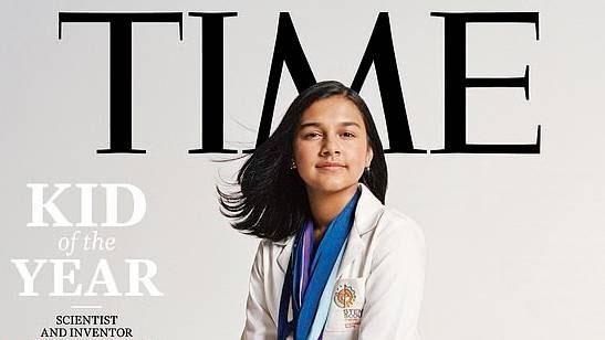 "Cientista e inventora de 15 anos eleita a primeiro ""Kid of the Year"" da TIME"