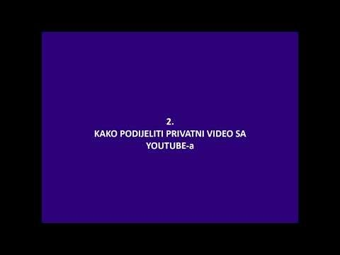 KAKO PODIJELITI SVOJ VIDEO NA YOUTUBE KANAL