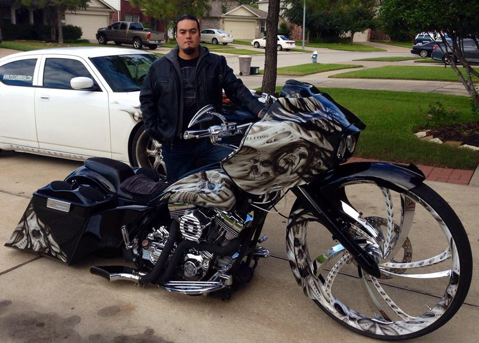 Custom Wall Plaques for Custom Motorcycles: Erik Contreras