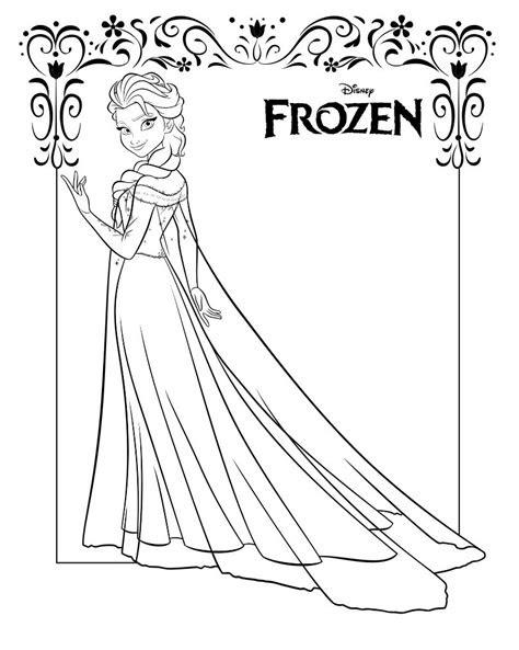 gambar mewarnai frozen elsa terbaru gambarcoloring