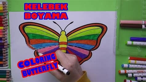 sevimli kelebek boyama kelebek nasil boyanir coloring