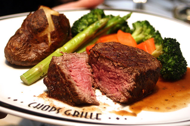 Top up US$14.95 for the Chops Grille specialty Filet Mignon