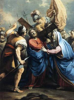 Settima Stazione Gesù è incaricato della croce