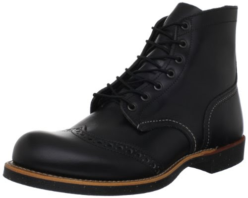 Red Wing Heritage 6-Inch Brogue Ranger Boot,Black,13 D US
