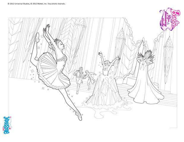 Coloriages Barbie Rêve De Danseuse Etoile 30 Coloriages