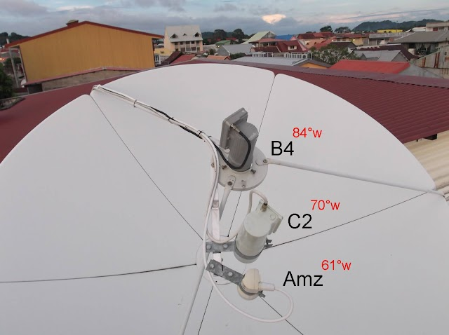 Como Apontar Antena de Chapa Sat Intelsat 21 a Partir do C2 Banda C - 10/01/2017