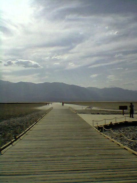 the boardwalk to the salt basin
