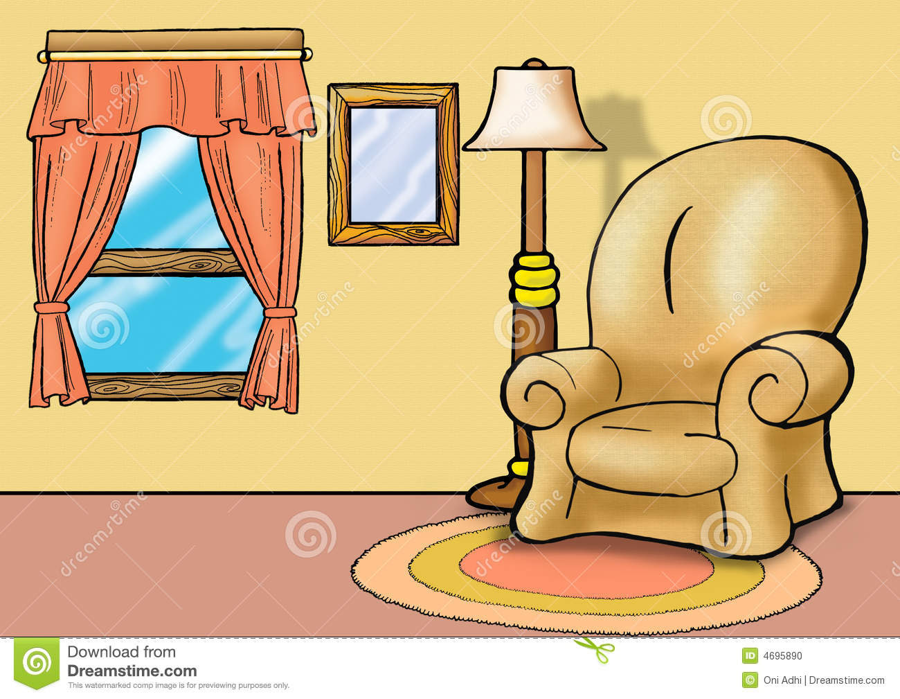 Cartoon Living Room Clip Art