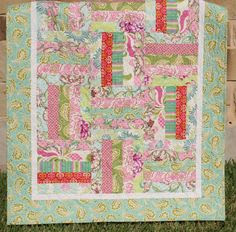 Quilts pink/turquoise/green/orange range on Pinterest