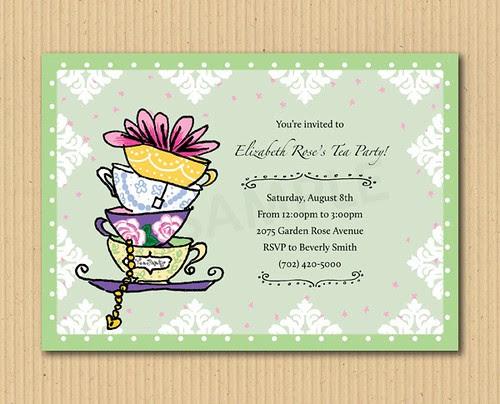 Let's have a tea party - DIY Printables