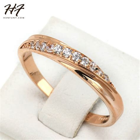 ?Classical Cubic Zirconia Lovers ?? Ring Ring Rose Gold