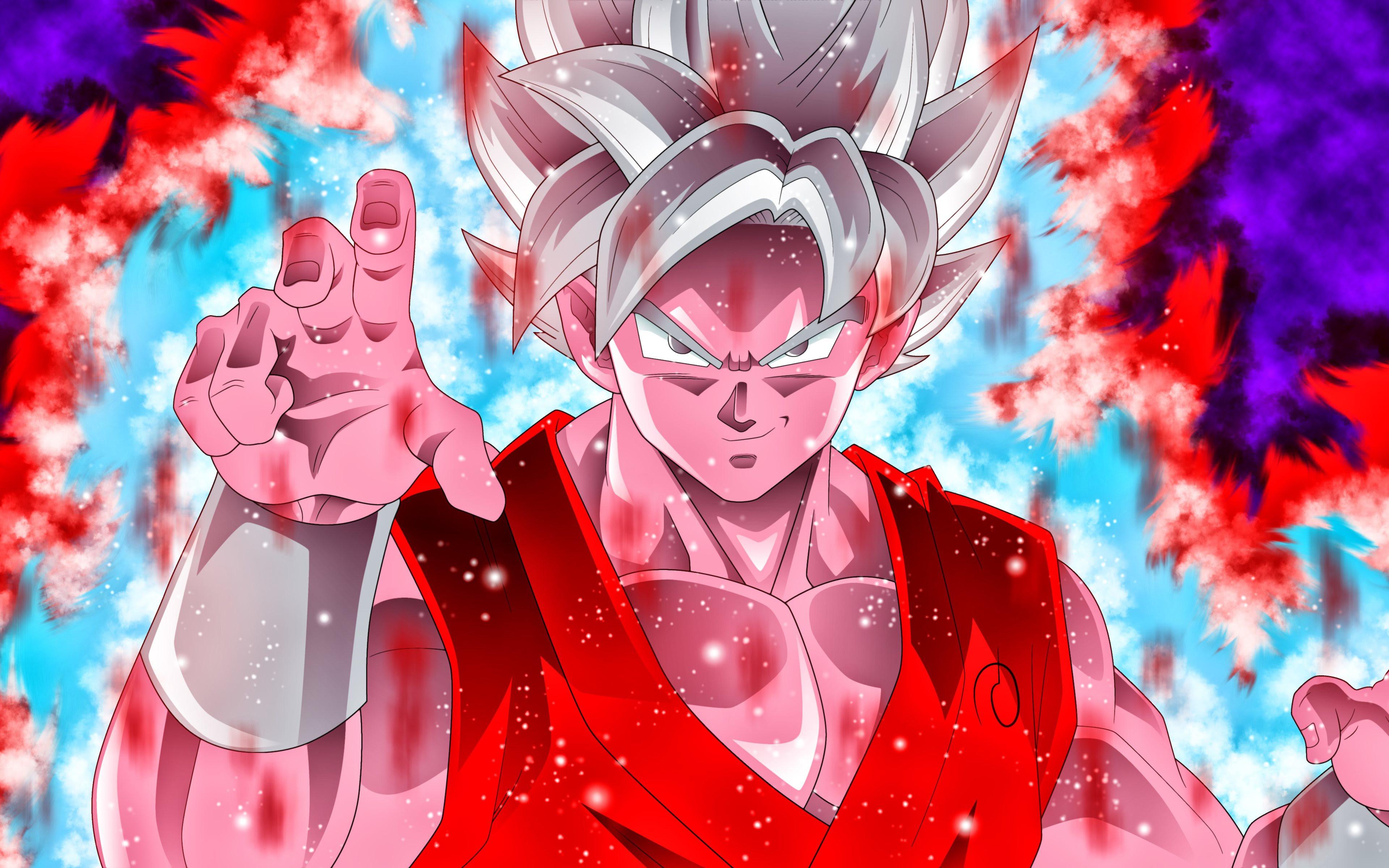 Download Wallpapers Ultra Instinct Goku Colorful Fire Dbs 4k