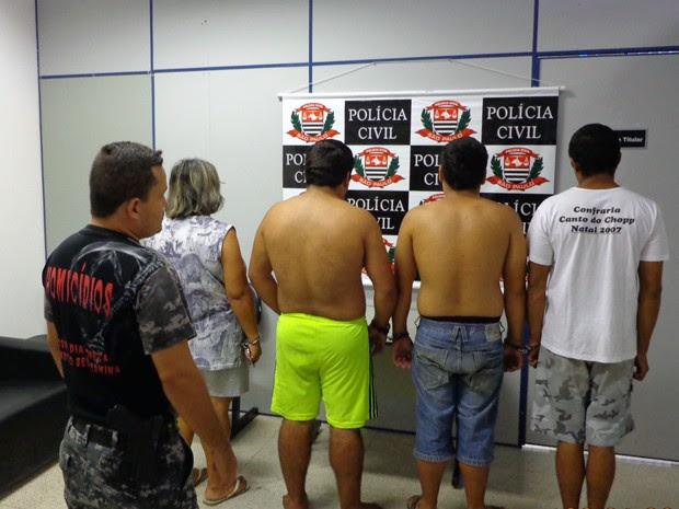 Mãe, dois filhos e genro são presos por matar pedreiro em São José (Foto: Divulgação/ Polícia Civil)