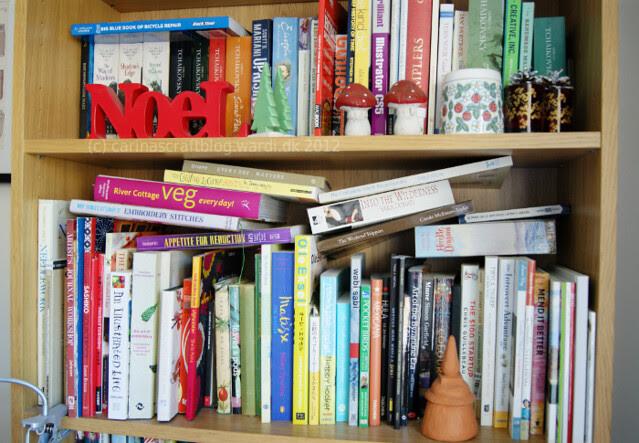 Messy book shelves