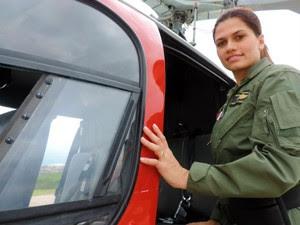 Tenente Lara, co-piloto do Águia na Base de Sorocaba (Foto: Jomar Bellini / G1)