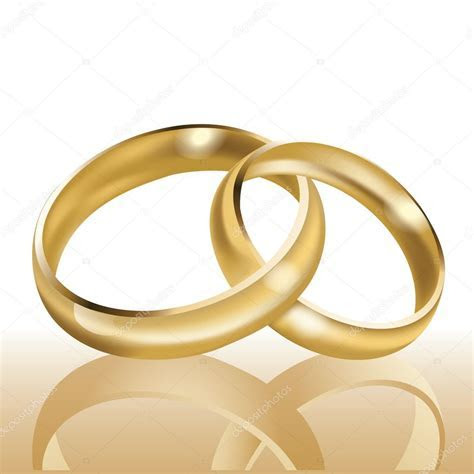 Wedding rings, symbol of marriage and eternal love, vector