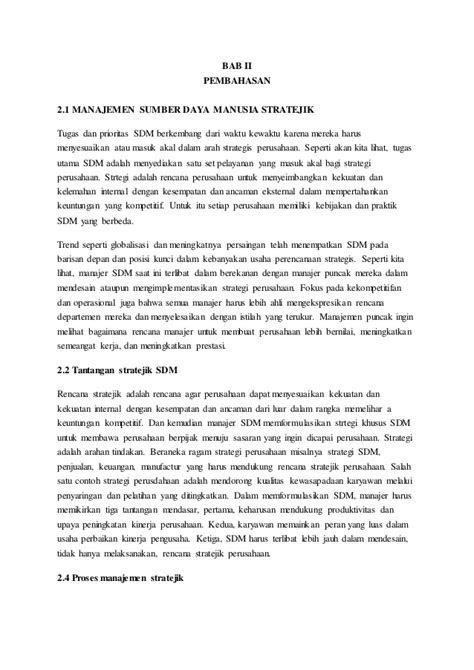 Makalah Manajemen SDM Stratejik Munkidah