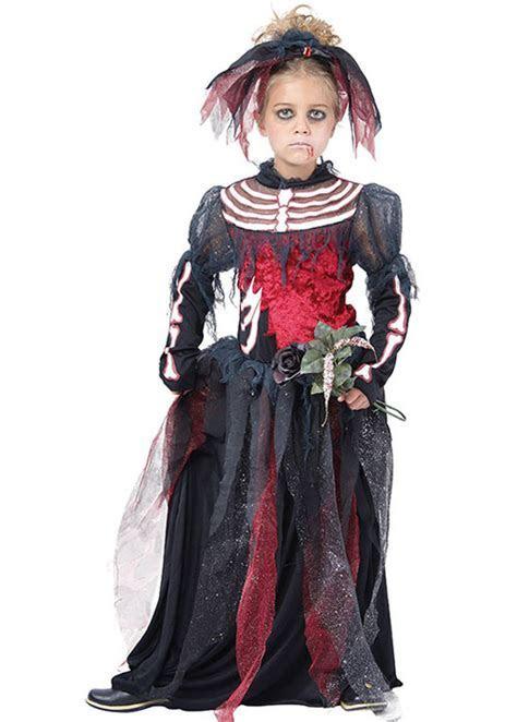 Kids Gothic Skeleton Corpse Bride Costume Kids Gothic