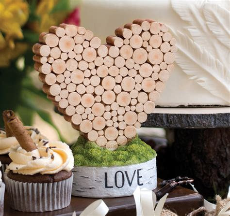 Rustic Heart Table Décor   Rustic Wedding Decorations
