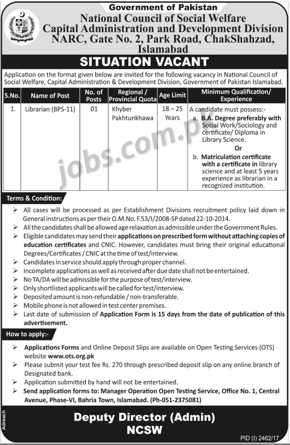 Capital Administration Development Division Islamabad