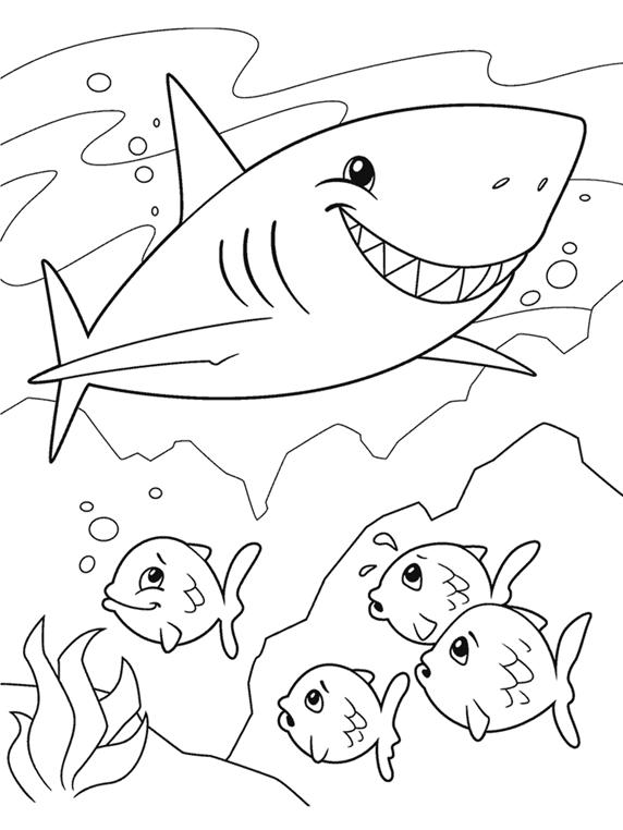 Shark Coloring Page | crayola.com