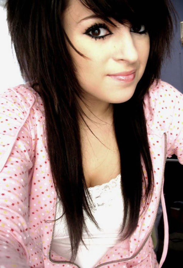 long black hair emo