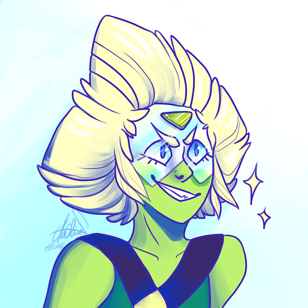 Peri is a sweet child so full of feelings and eagerness and I love her (if you compare this with my last Peridot drawing you can see how much my style has changed aaaah)