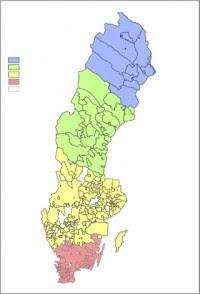 Sverige Elområden