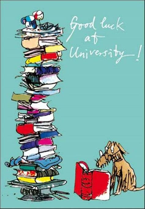 Quentin Blake Good Luck At University Greeting Card