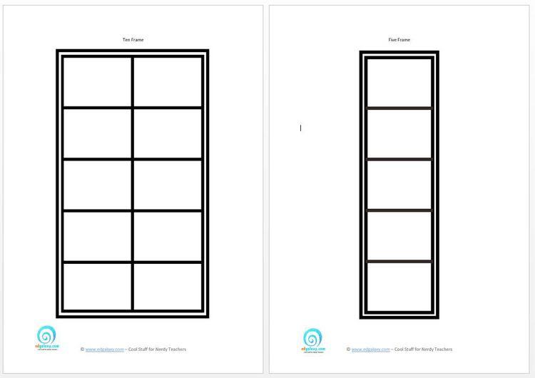 Number Names Worksheets : blank ten frame ~ Free Printable ...
