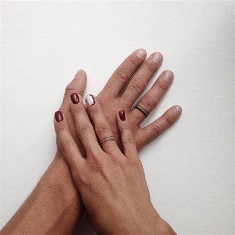 stickandpoketattoo: ? Matching wedding ring tattoos