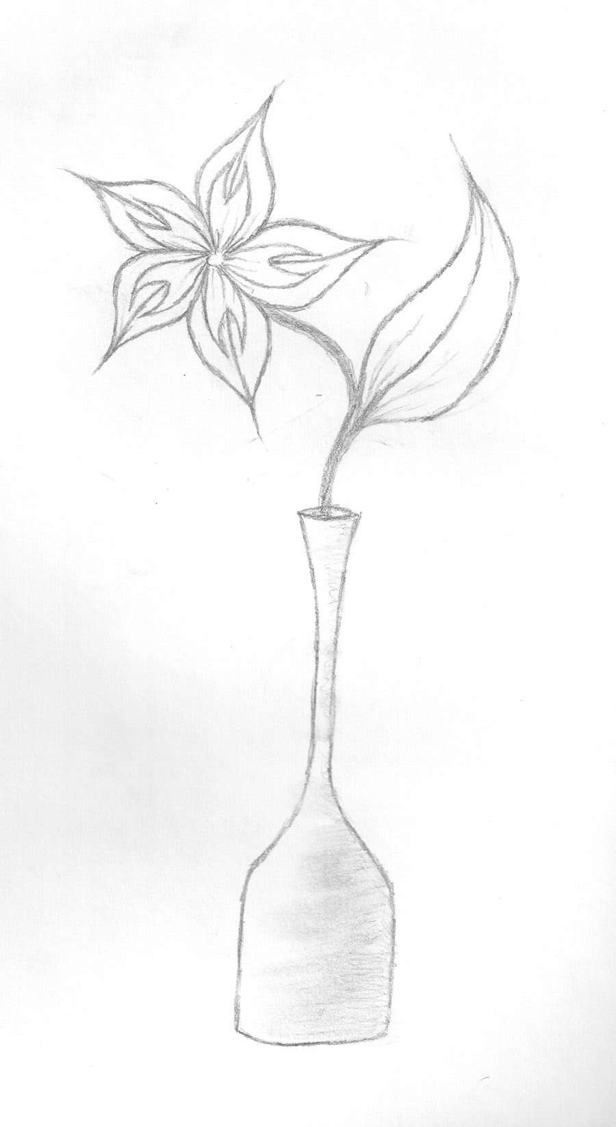 Flowers In Vase Drawing At Getdrawings Free Download