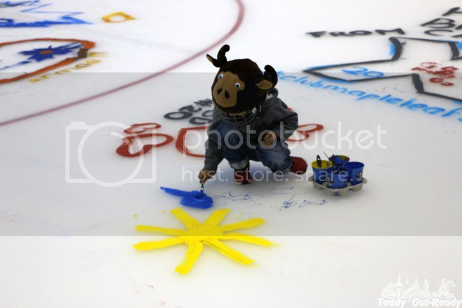 Maple Leafs Ice Painting