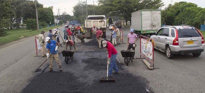 Jornada especial de bacheo para mejorar la malla vial