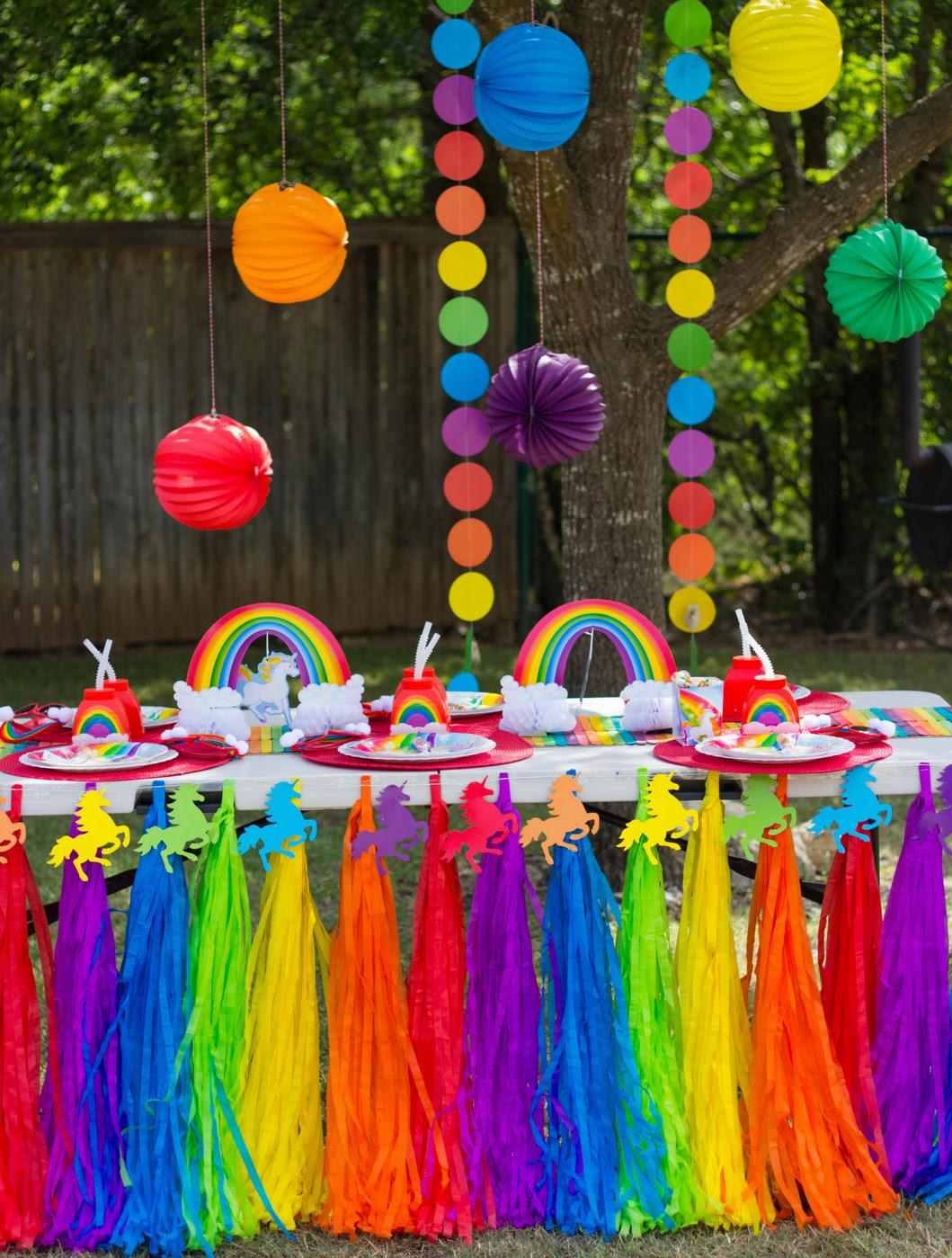 Rainbow Unicorn Pool Party  Fun20
