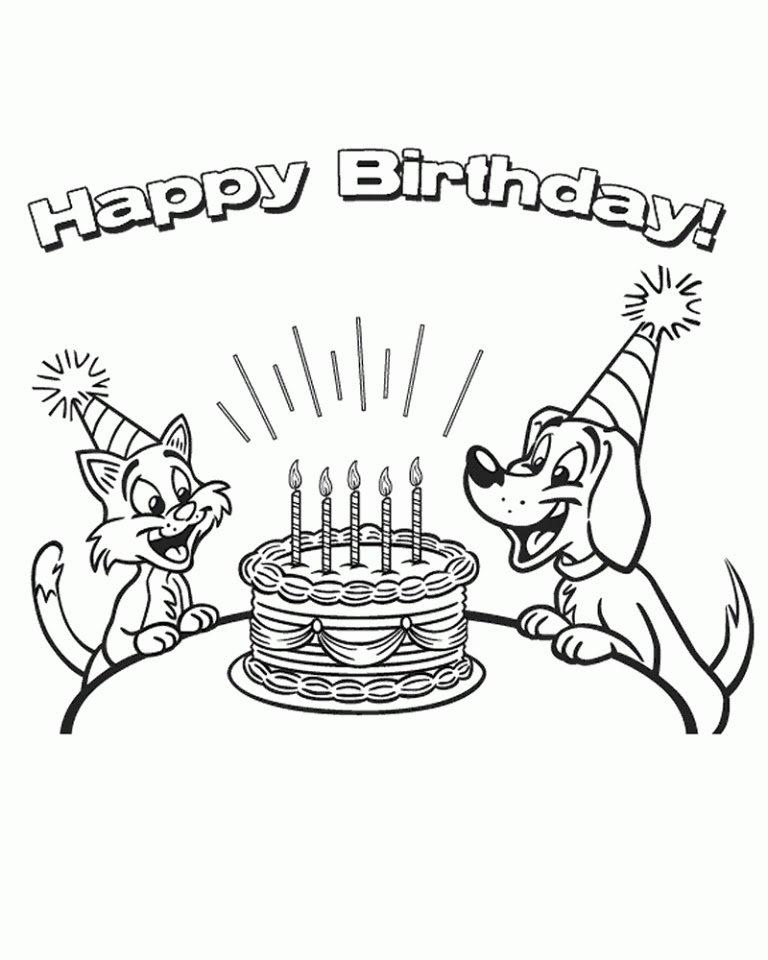 Get This Free Happy Birthday Coloring Pages to Print Out ...