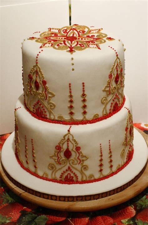 Moroccan wedding cake by Olofson Design.   Indian Theme