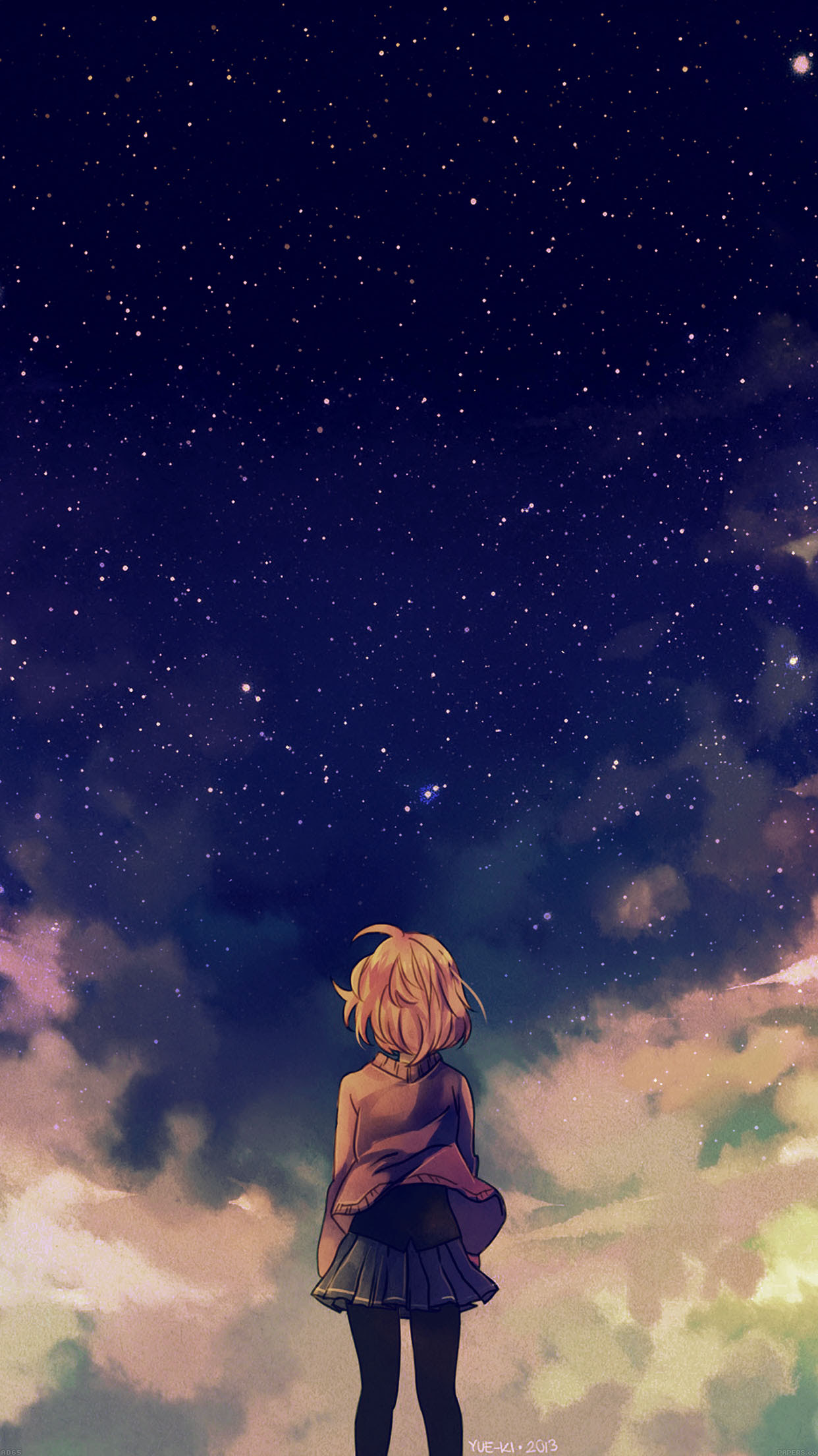 PAPERS.co | iPhone wallpaper | ad65-starry-space-illust ...