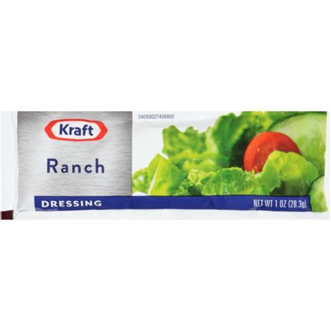 KRAFT Single Serve Ranch Salad Dressing, 1 oz. Packets
