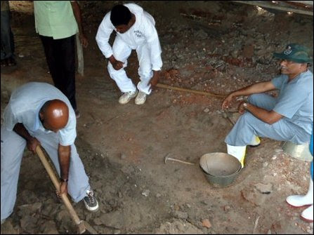 Exhumation of mass grave in Mannaar