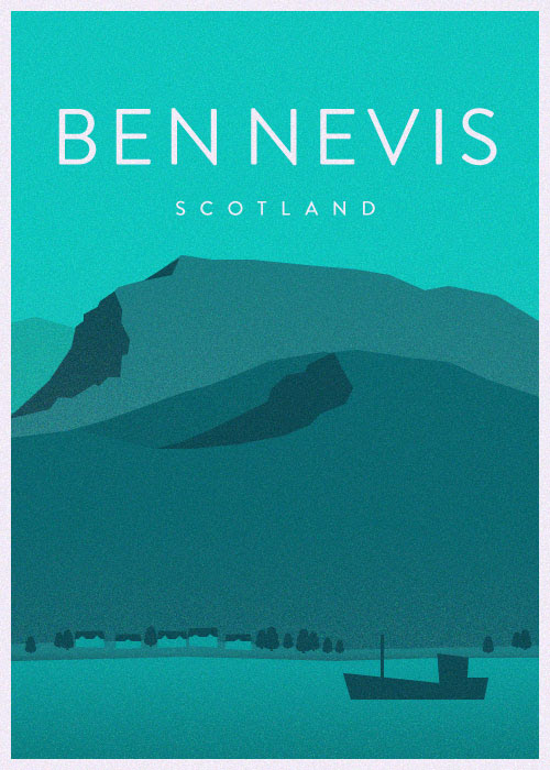 nevis Scottish Travel Posters