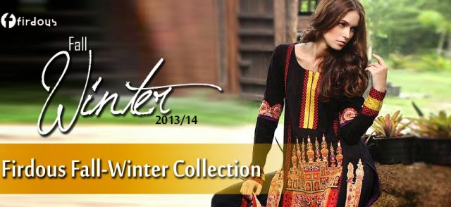 Women-Girls-Fall-Winter-Dress-2013-14-Exclusive-Winter Suits-by-Firdous-Clothes-