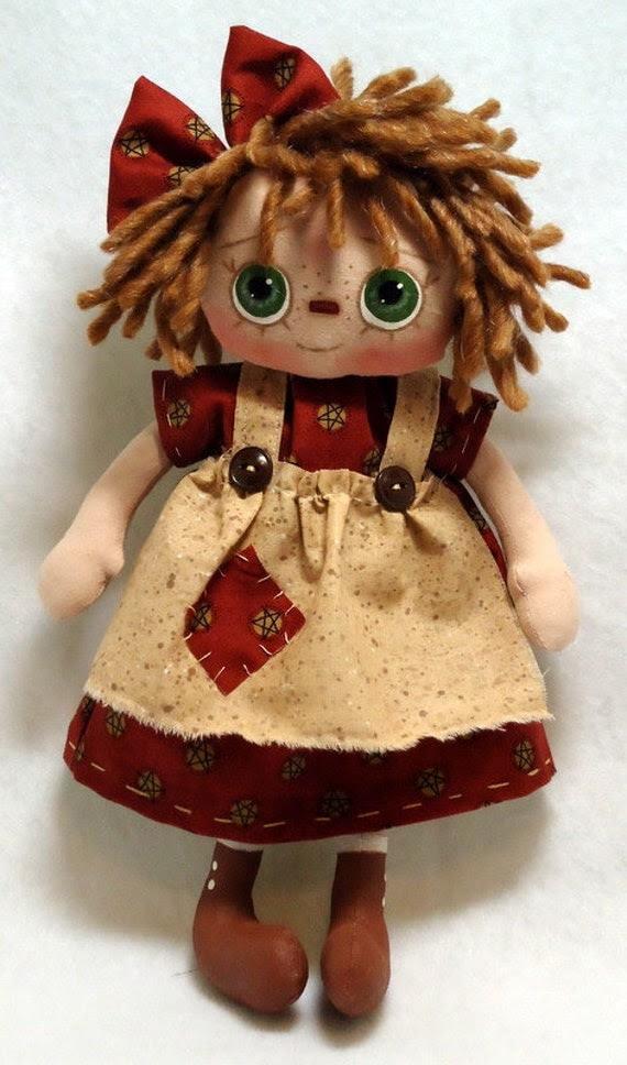 Raggedy Ann Cloth Doll - Ms Abbey