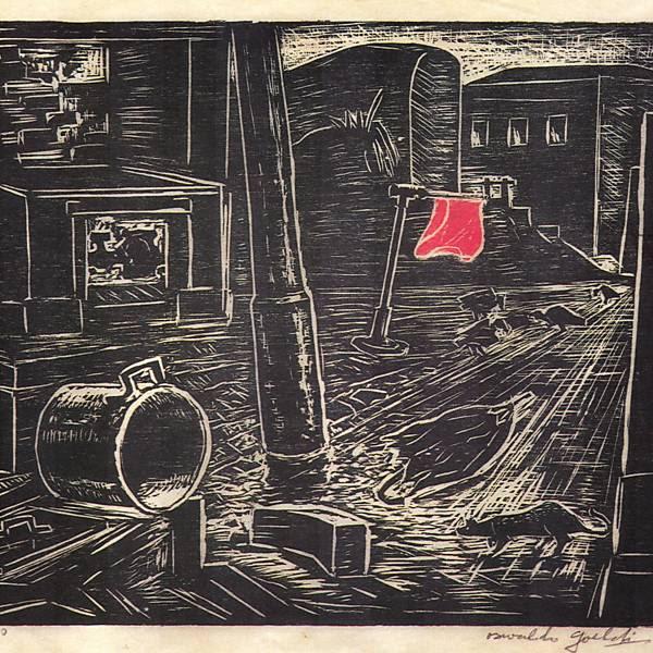 """O MAM estreia nesta sexta-feira (15) a maior retrospectiva do expoente do expressionismo no Brasil Oswaldo Goeldi (1895-1961). Entre os destaques, a xilogravura """"Rua"""", de 1938 Leia mais"""