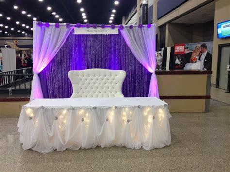 Purple & White Head Table Wedding Decor Ideas Buffalo NY