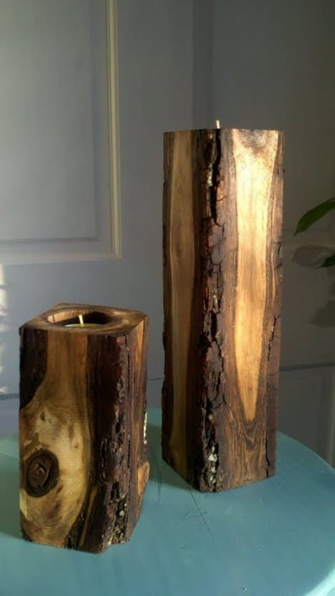 23 Wooden Candle Holders and Candle Holder Centerpiece ...