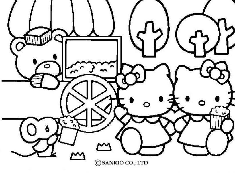 Pinta A Hello Kitty Az Dibujos Para Colorear