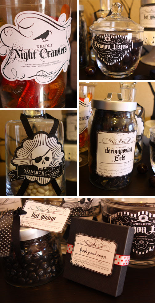 Printable Treat jars by Celeste Rockwood-Jones